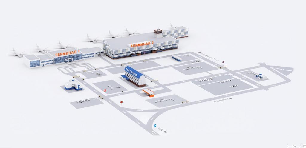 Схема аэропорта Уфа