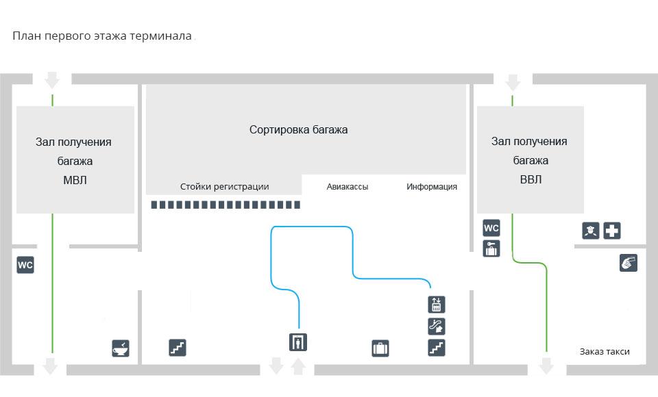 Схема аэропорта Томск (Богашёво)