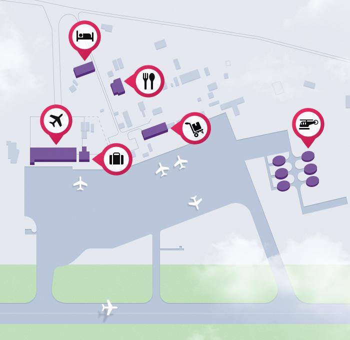 Схема аэропорта Махачкала (Уйташ)