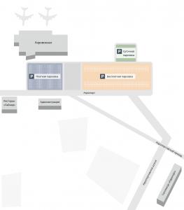 Схема аэропорта Астрахань