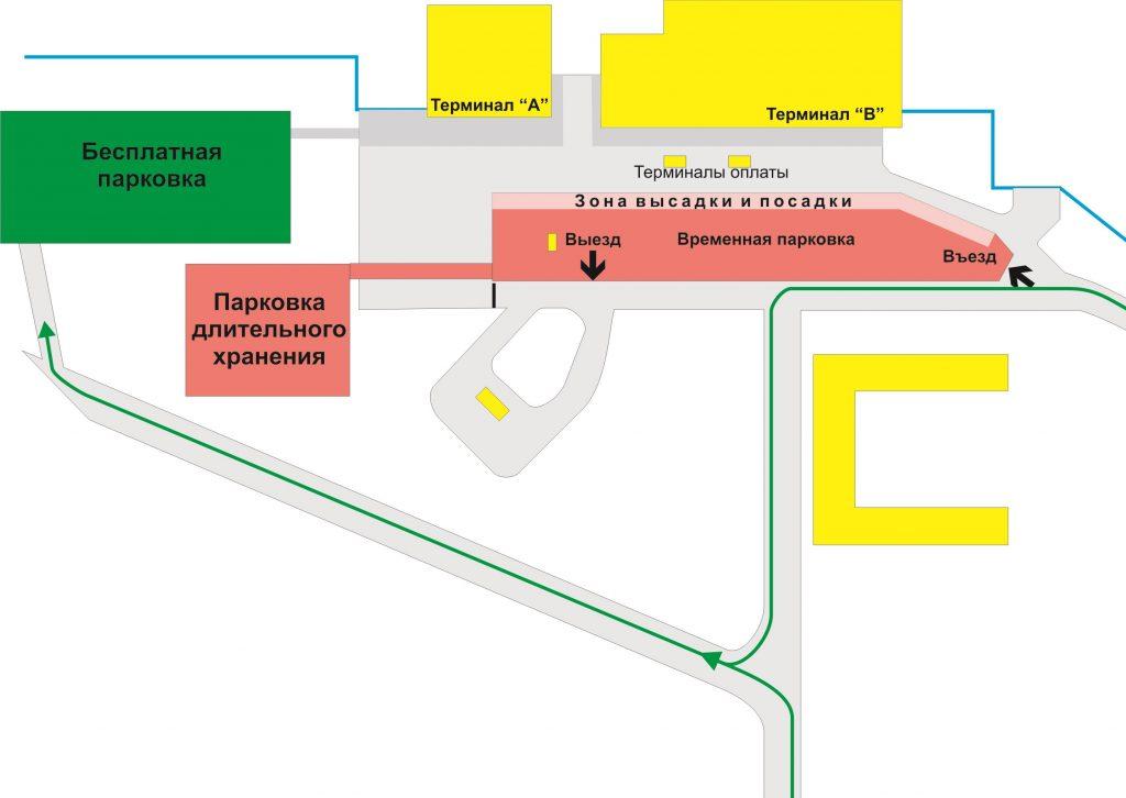 Схема парковки аэропорта Омск
