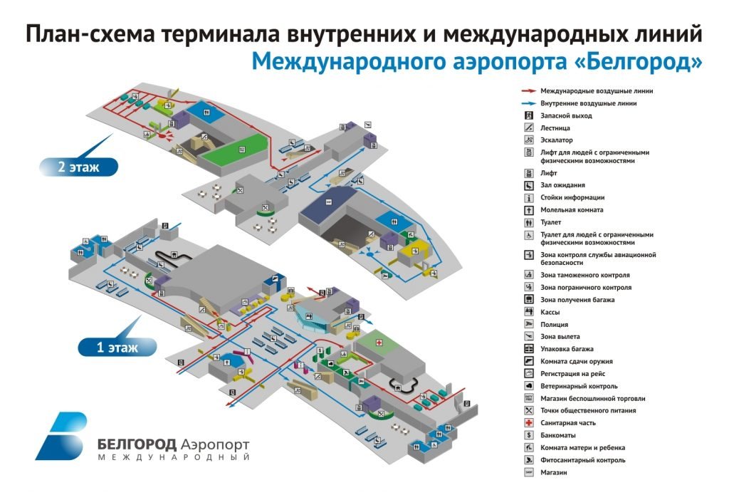 Схема аэропорта Белгород